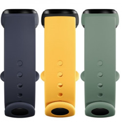 Каишка за Xiaomi Mi Band 5 - navy blue, yellow, mint green (3 бр)