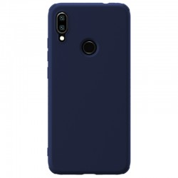 Redmi Note 7  гумиран калъф Rubber Wrapped Nillkin син